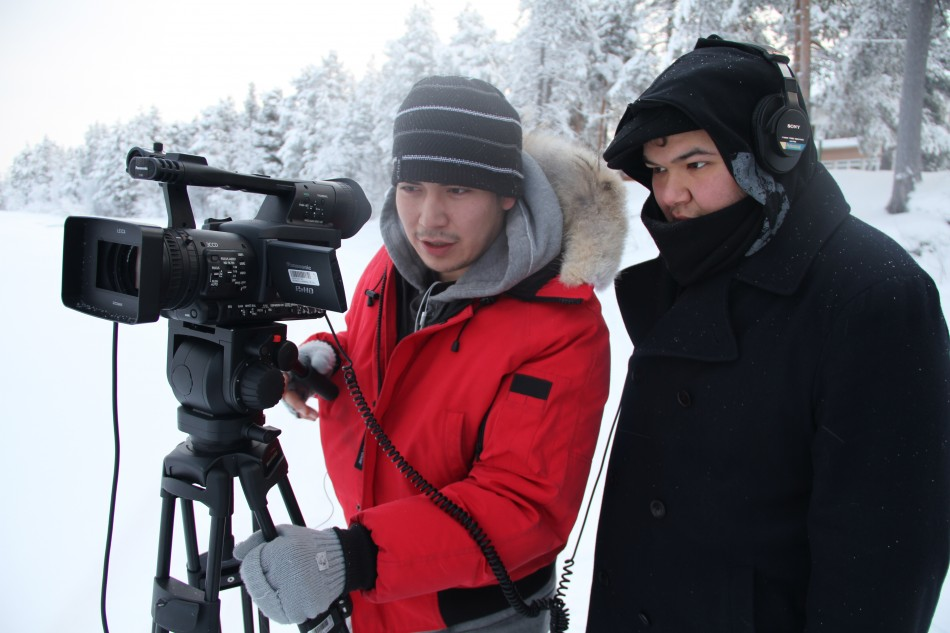 atelier de caméra chez les Samis (Finlande)